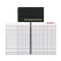 Class Record And Roll Book, 40 Sheets, 11x8-1/2, Black