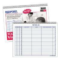 Log Book For Visitors,1000 Entries,50 Pages,11x8-1/2,White