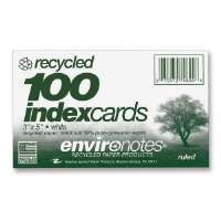 Index Cards, Ruled, 3x5, 100/PK, White
