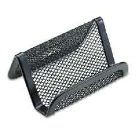 Business Card Holder, Mesh, 3-3/4x2-7/8x1-3/4, Black