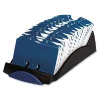 VIP Card File, 500-Card Capacity, 4-3/4X9-3/8X3, Black