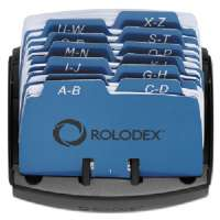 ROLODEX Open Card File,125-Card Capacity,4-1/8x2x4-3/4, Black