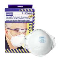 Dust And Mist Respirator, NIOSH/MSHA Rated, 20/BX, White