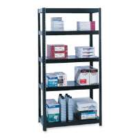 Steel Shelving,800 lb Cap,48x18x72 or 96x18x36,Black