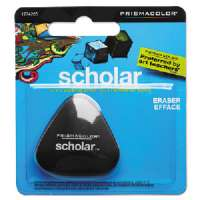 SANFORD INK CORPORATION Scholar Eraser, Prismacolor, Triangle Shape, Black