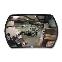 Convex Mirror, Round Rectangular Glass, 12x18, Neutral