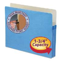 Top-Tab File Pocket, Ltr, 11-3/4Wx9-1/2H, 1-3/4 Exp, BE