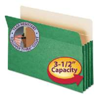 Top-Tab File Pocket, Lgl, 14-3/4Wx9-1/2H, 3-1/2 Exp, GN