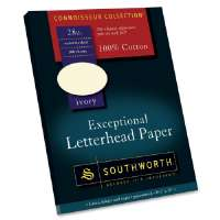 Exceptional Letterhead Paper,28lb,8-1/2x11,100/BX,Ivory