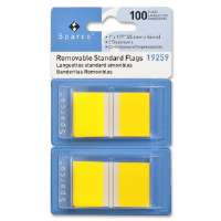 Pop-up Removable Standard Flags, 1, 100/PK, Yellow