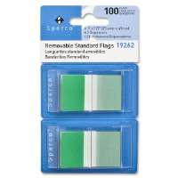 Pop-up Removable Standard Flags, 1, 100/PK, Green