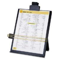 Easel Document Holders,Adjustable,10-3/8x2-1/4x12-1/2,BK