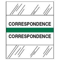 Medical Chart Tabs, Correspondence, 100/PK, Green Edge