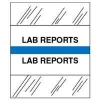 Medical Chart Tabs, Lab Reports, 100/PK, Blue Edge