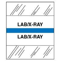 Medical Chart Tabs, Lab/X-Ray, 100/PK, Light Blue Edge