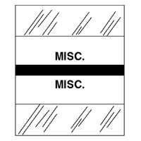 Medical Chart Tabs, Misc., 100/PK, Black Edge