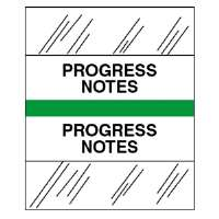 Medical Chart Tabs, Progress Notes, 100/PK, Lt Green Edge