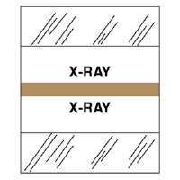 Medical Chart Tabs, X-Ray,100/PK, Brown Edge