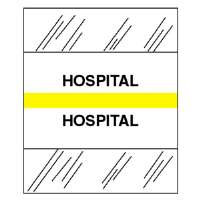 Medical Chart Tabs, Hospital, 100/PK, Yellow Edge