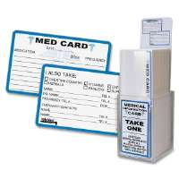 Medical Information Cards, 6-7/8x6-7/8x2-1/4, 25/PK, Oth