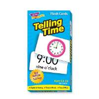 TREND ENTERPRISES Telling Time Flash Cards, 96/BX