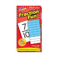 TREND ENTERPRISES Fraction Fun Flash Cards, 96/BX