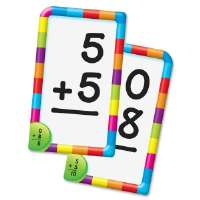 Addition Pocket Flash Cards, 3-1/8x5-1/4, 56/CD, Multi
