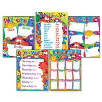 TREND ENTERPRISES Learning Chart Combo Pack, Fury Friend, Charts, Multi