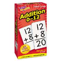 TREND ENTERPRISES Math Flash Cards, Addition, 0 To 12, 3x5-7/8