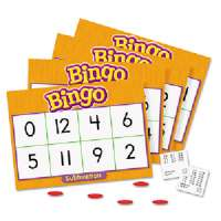 Subtraction Bingo Game,Incld 36 Playing Cards/Over 200 Chips