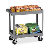 2-Shelf Service Cart, 30x16x32, Medium Gray