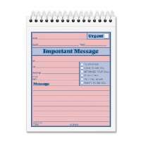 Important Message Book, 4-1/4x6, 50 Sets, PK/CY Paper