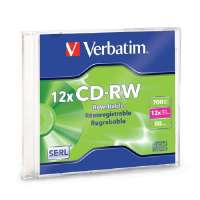 CD-RW,80 Min/700MB,Branded w/ Slim Case,4X-12XHigh Speed
