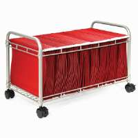 Rolling File Cart,w/OpenTop,22-1/2x12-3/8x14-1/2,Matte GY