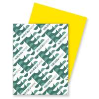 Card Stock Paper, 65 lb., 8-1/2x11, Solar Yellow