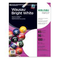 WAUSAU PAPERS Cardstock Paper, 65 lb., 8-1/2x11, 100/PK, White