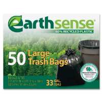 Trash Bags,33 Gallon,.75mil,32-1/2x40,50/BX,Black