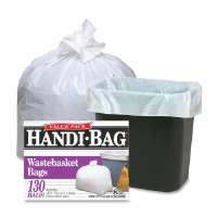 Trash Bags, 8 Gallon, .6 mil, 21-1/2x24, 130/BX, White