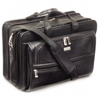 U.S. Luggage Nappa Leather Wide-Body Computer-Friendly Portfolio
