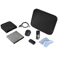 "Ultra Power User Netbook Accessory Bundle - 8x Slim External DVD Burner w/ Nero 8, Up to 10.2"" Netbook Slip, 2.4GHz Wireless Optical Mouse, 4-Port USB 2.0 Hub, Screen Cleaning Gel w/ Microfiber Cloth"
