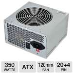OEM 350W Power Supply - ATX, Dual +12V Rails, Ultra Silent