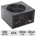 OEM 550W Power Supply - ATX, Dual +12V Rail, Ultra Silent