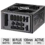 Ultra X4 750-Watt Modular Power Supply V2 - 135mm Fan, ATX, 80+ Bronze, Active PFC, NVIDIA SLI & ATI Crossfire Certifications, Vibration Dampener, Cables, Lifetime Warranty with Registration