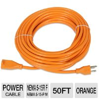Ultra Xfinity 50 Ft Heavy-Duty Extension Cord - 50 Feet, 15,24m, 16AWG, 1-Outlet, 3-Wire, Grounded, Orange