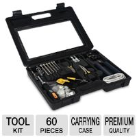 Ultra Precision X 60-Piece Computer Networking Tool Kit - 60x Pieces, Carrying Case