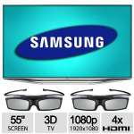 "Samsung 55"" 3D LED Smart TV - Micro Dimming, Split Screen, Smart Hub, Clear Motion Rate 960 - UN55H7150"