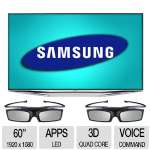 "Samsung 60"" Class 3D LED Smart TV - 1920 x 1080, 240Hz, Apps, Micro Dimming, Split Screen, Smart Hub, Clear Motion Rate 960 - UN60H7150AFXZA"