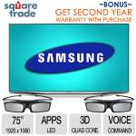 "Samsung UN75H7150 75"" & Free 2nd Year Warranty"