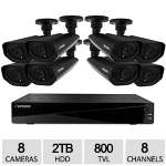 Defender Connected  Pro Widescreen 8CH Security DVR - 2TB Storage and 8 Surveillance 800TVL Cameras with 150ft Night Vision - 21155