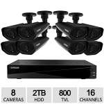 Defender Connected  Pro Widescreen 16CH Security DVR with 2TB Storage and 8 Surveillance 800TVL Cameras with 150ft Night Vision